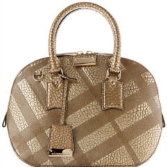 69cdfdb1eed7 Burberry Orchard in Embossed Check Gold